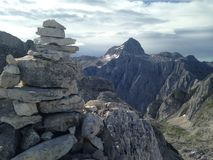 Triglav-Gipfel im Abstand Lizenzfreies Stockfoto