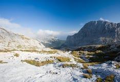 Triglav, highest peak in the Julian Alps. Stock Image