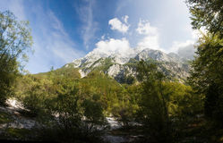 Triglav, highest peak in the Julian Alps. Royalty Free Stock Photography