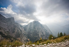 Triglav, highest peak in the Julian Alps. Stock Image