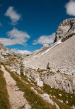 Triglav lakes valley hiking. Triglav lake hiking in Julian Alps, Slovenia Stock Images