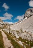 Triglav lakes valley hiking. Triglav lake hiking in Julian Alps, Slovenia stock images