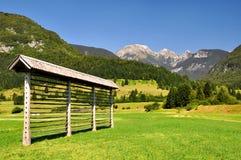 Triglav National Park - Julian Alps, Slovenia. Haylofts in Triglav National Park - Julian Alps, Slovenia Royalty Free Stock Images