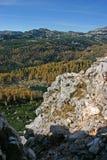 Triglav autumn larches Dolina Triglavskih Jezer Royalty Free Stock Photo
