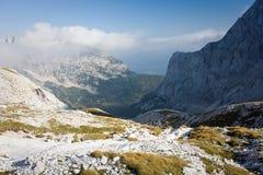 Triglav, più alto picco nelle alpi di Julian. Fotografia Stock Libera da Diritti