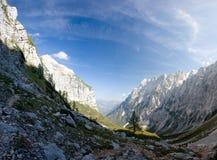 Triglav, più alto picco nelle alpi di Julian. Immagine Stock