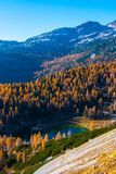 Triglav See-Tal im Herbst, Slowenien Stockbilder