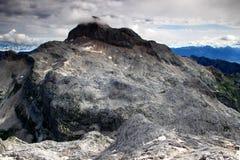 Triglav zbliżenie, kraju wysoki punkt, Juliańscy Alps Obrazy Royalty Free