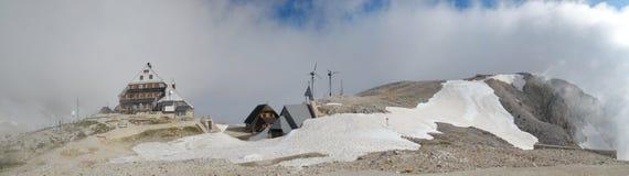 Triglavski dom na Kredarici mountain hut Stock Photography