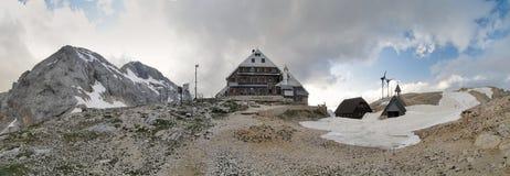 Triglavski dom na Kredarici mountain hut near Triglav in Julian Alps Royalty Free Stock Image