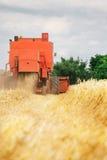 Trigo de la cosecha mecanizada Imagenes de archivo