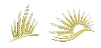 Trigo del oro del logotipo ilustración del vector