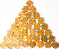 Trigo-Detrás viejo Lincoln Penny Cents aka Wheaties de Estados Unidos del Menta-estado fotografía de archivo libre de regalías