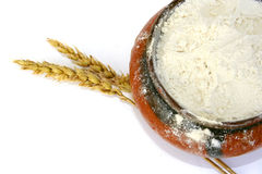 Trigo e farinha Foto de Stock