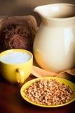 Trigo e leite Fotografia de Stock Royalty Free