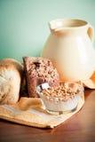 Trigo e leite Fotografia de Stock