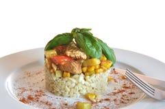 Trigo macio com galinha Imagens de Stock Royalty Free