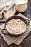 Trigo mourisco com leite fotos de stock royalty free