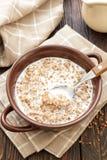 Trigo mourisco com leite foto de stock royalty free