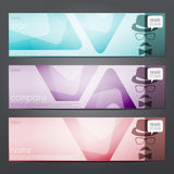Trigon banners Royalty Free Stock Images