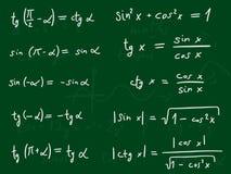 Trigonométrie Photo libre de droits