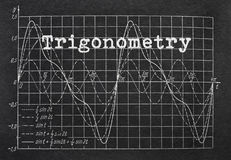 Trigonometria e gráfico Imagens de Stock