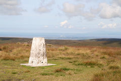 Trigonometrical Point on Fairsnape Fell. Royalty Free Stock Image