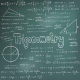 Trigonometrilagteori och likställande för matematisk formel, doodl Fotografering för Bildbyråer