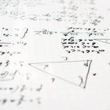 Trigonometrimatematiklikställande och formler Royaltyfri Foto
