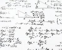 Trigonometrimatematiklikställande och formler Arkivfoton
