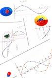 Trigonometry. Elements of elementary trigonometry: sin and cos functions Stock Photo