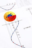 Trigonometry. Elements of elementary trigonometry: sin and cos functions Stock Images