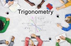 Trigonometry Algebra Equation Knowledge Learn Concept Royalty Free Stock Photo