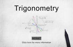 Trigonometry Algebra Equation Knowledge Learn Concept Royalty Free Stock Photography