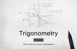 Trigonometry Algebra Equation Knowledge Learn Concept. Trigonometry Algebra Equation Knowledge Learn stock image