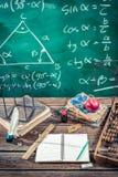Trigonometry classes in school. Retro style Stock Photography