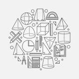 Trigonometry and geometry illustration Stock Photos