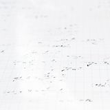 Trigonometry math equations and formulas. Squared sheet of paper filled with partially erased trigonometry math equations and formulas as a background Royalty Free Stock Images