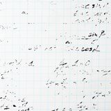 Trigonometry math equations and formulas. Squared sheet of paper filled with partially erased trigonometry math equations and formulas as a background Royalty Free Stock Image