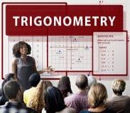 Trigonometry Mathematics Calculation Chart Concept Stock Photography