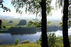 trigorskoe ziemskiej rezydenci rzeki Zdjęcie Royalty Free