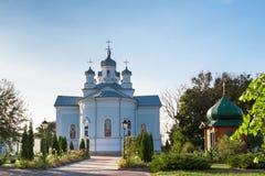 Trigorsky圣洁变貌修道院 免版税图库摄影