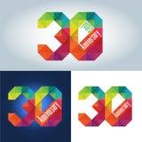 trigésimo logotipo del aniversario Foto de archivo libre de regalías