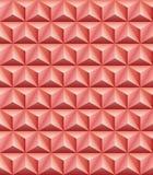 Trihedral άνευ ραφής σύσταση αργίλου πυραμίδων red-brown απεικόνιση αποθεμάτων