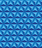 Trihedral pyramid blue seamless texture. Abstract pattern of blue trihedral pyramids. Seamless texture Royalty Free Stock Photo