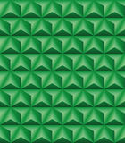 Trihedral pyramid green seamless texture. Abstract pattern of green trihedral pyramids. Seamless texture Stock Photography