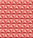 Trihedral pyramid red-brown clay seamless texture. Abstract pattern of red-brown clay trihedral pyramids. Seamless texture Stock Photography