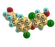 Triiodothyronine molecule isolated on white royalty free illustration