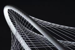 Triityrivier Margaret Hunt Hill Bridge in Dallas Texas royalty-vrije stock afbeelding