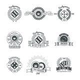Trik-traków klubów rocznika stylu emblematy royalty ilustracja